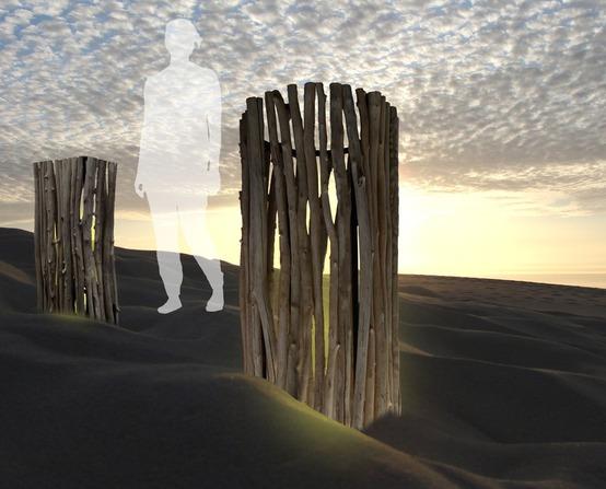 Création de Luminaires en bois flotté en bouleaux, en lianes et éléments naturels