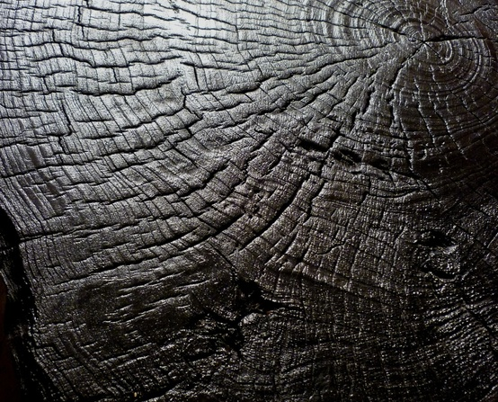 Burnt wood or SHOU-SUGI-BAN