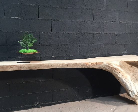 Driftwood console tables