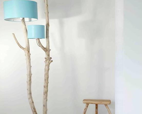 Luminaire en bois flotté
