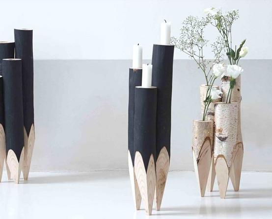 Objets de déco en bois