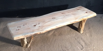 Banc en planche de bois flotté ref 5461