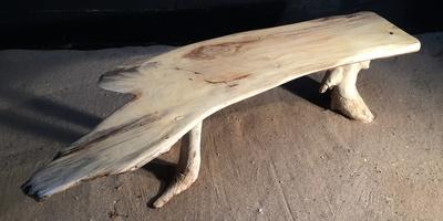 Banc en planche de bois flotté ref 5467