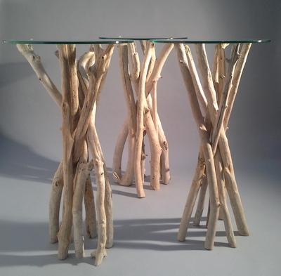 Table Mange Debout en branches de bois flotté