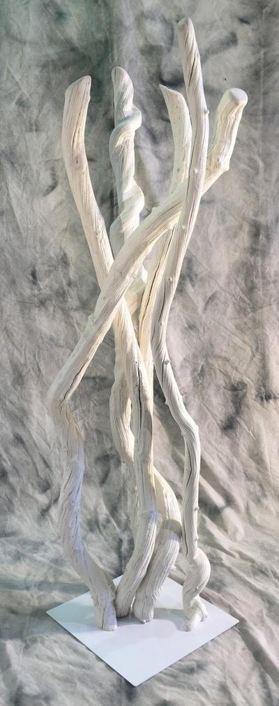 Colonne de lianes blanches