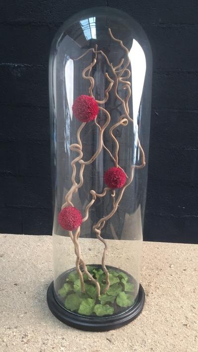 Ikebana: Dahlias rouges