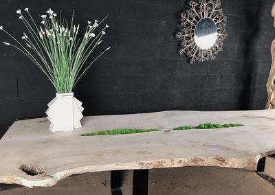 TABLE JARDIN EN BOIS FLOTTE