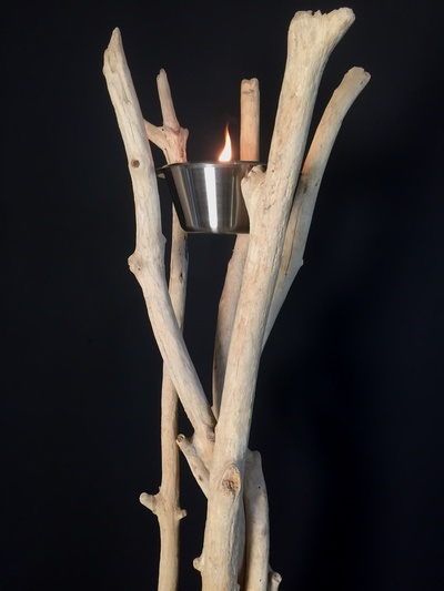 Small model driftwood torch