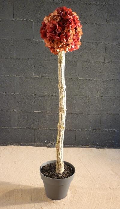 Un arbuste en hortensia stabilisé
