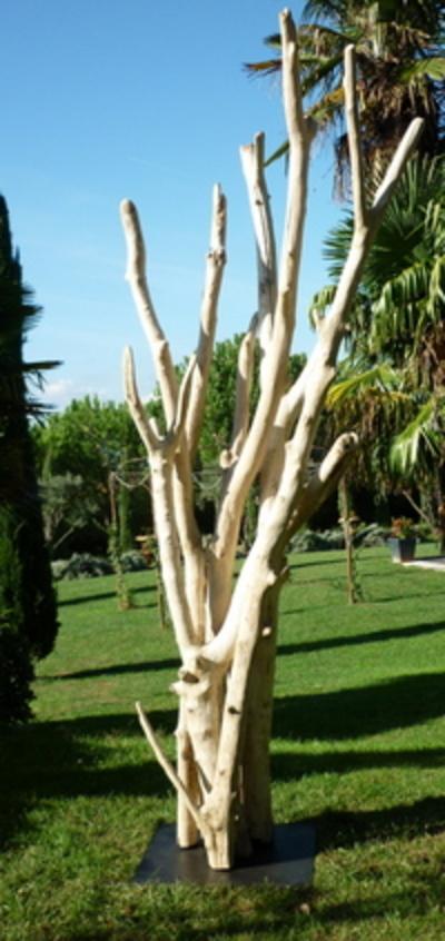 Grande sculpture de branches de bois flotté