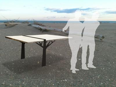 Table en bois flotté