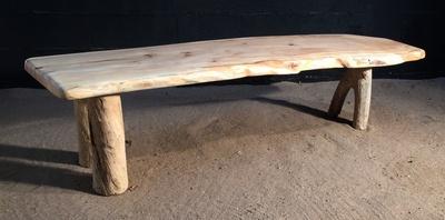 Banc en planche de bois flotté ref 5460