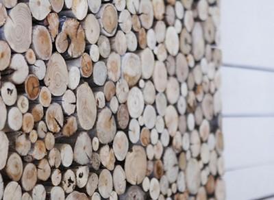 Décoration en bois flotté du restaurant Baia